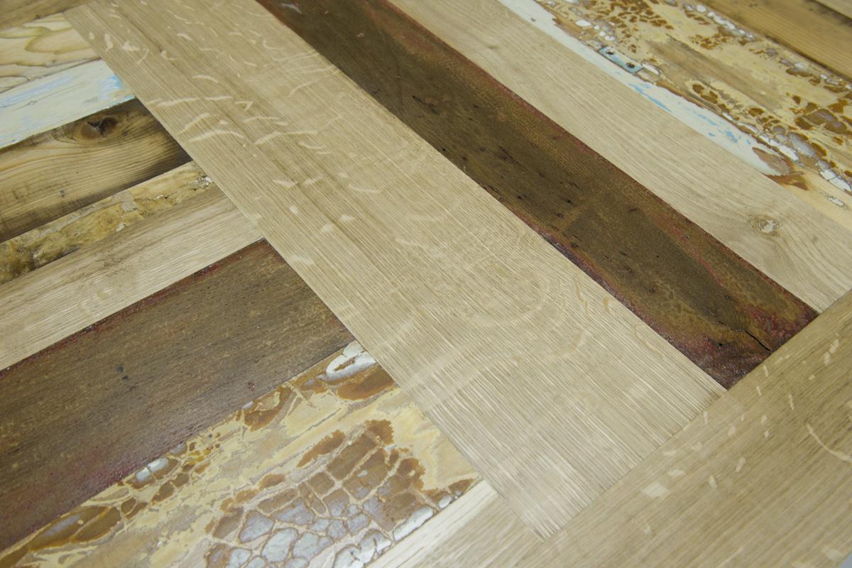 Piano tavolo sala e soggiorno in legno rigenerato