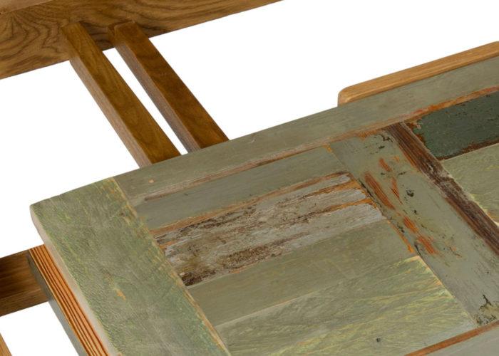 Tavolo in legno massello e legno di recupero su misura