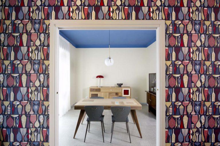 soggiorno con tavolo in legno massello allungabile laquercia21