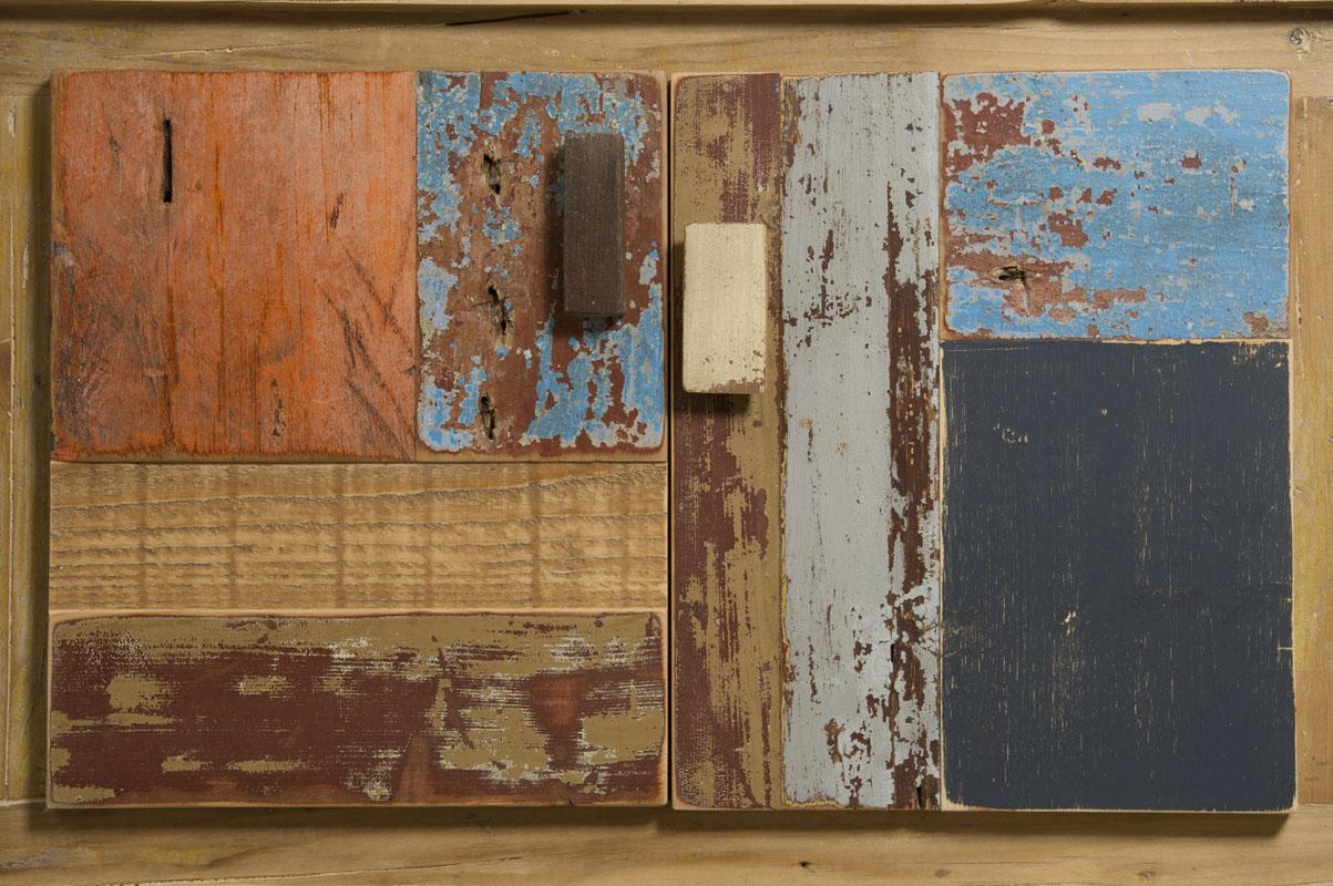 ante per madia contemporanea in legno recuperato colorato