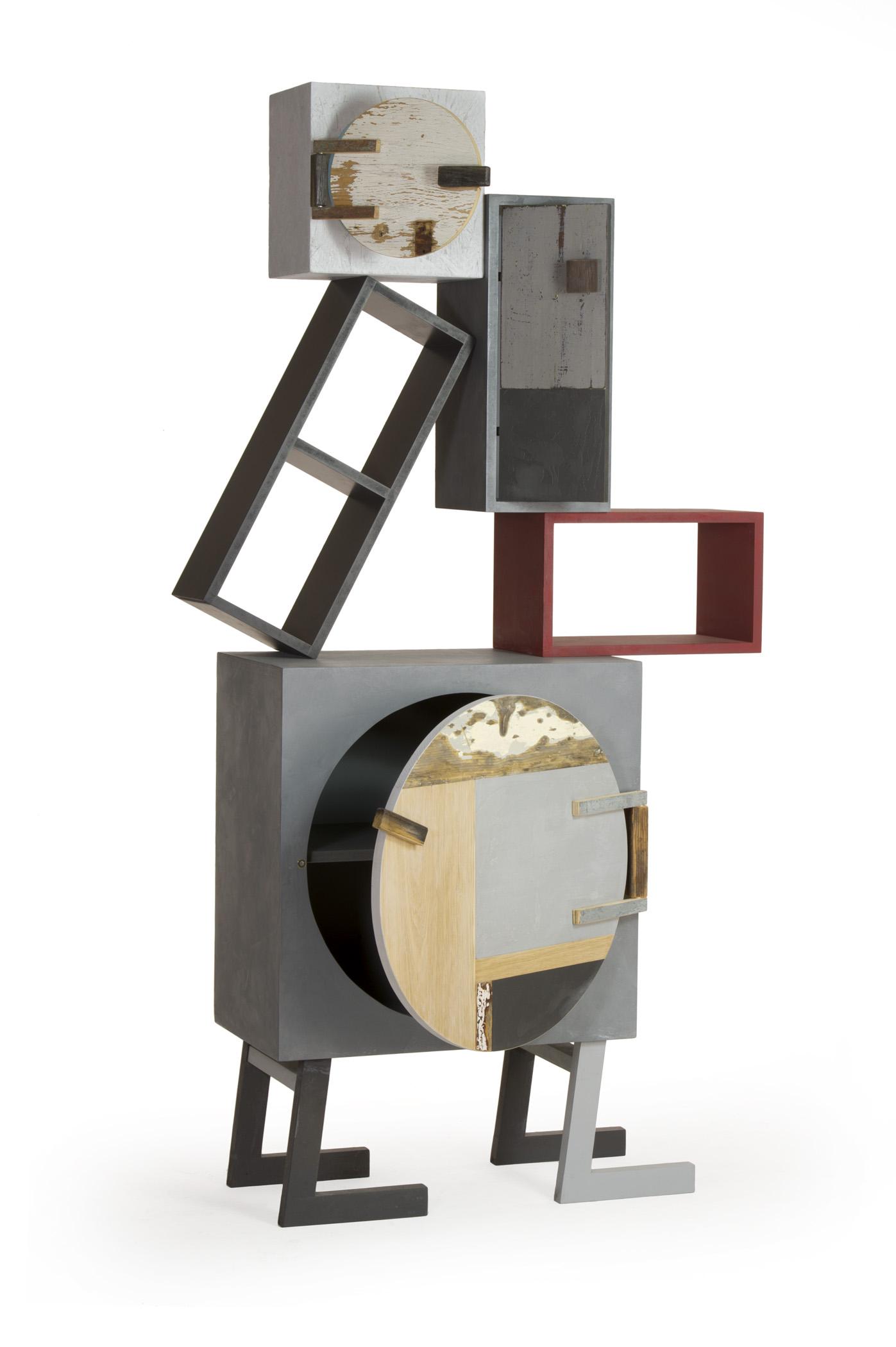 Mobile di design in legno, disegno unico