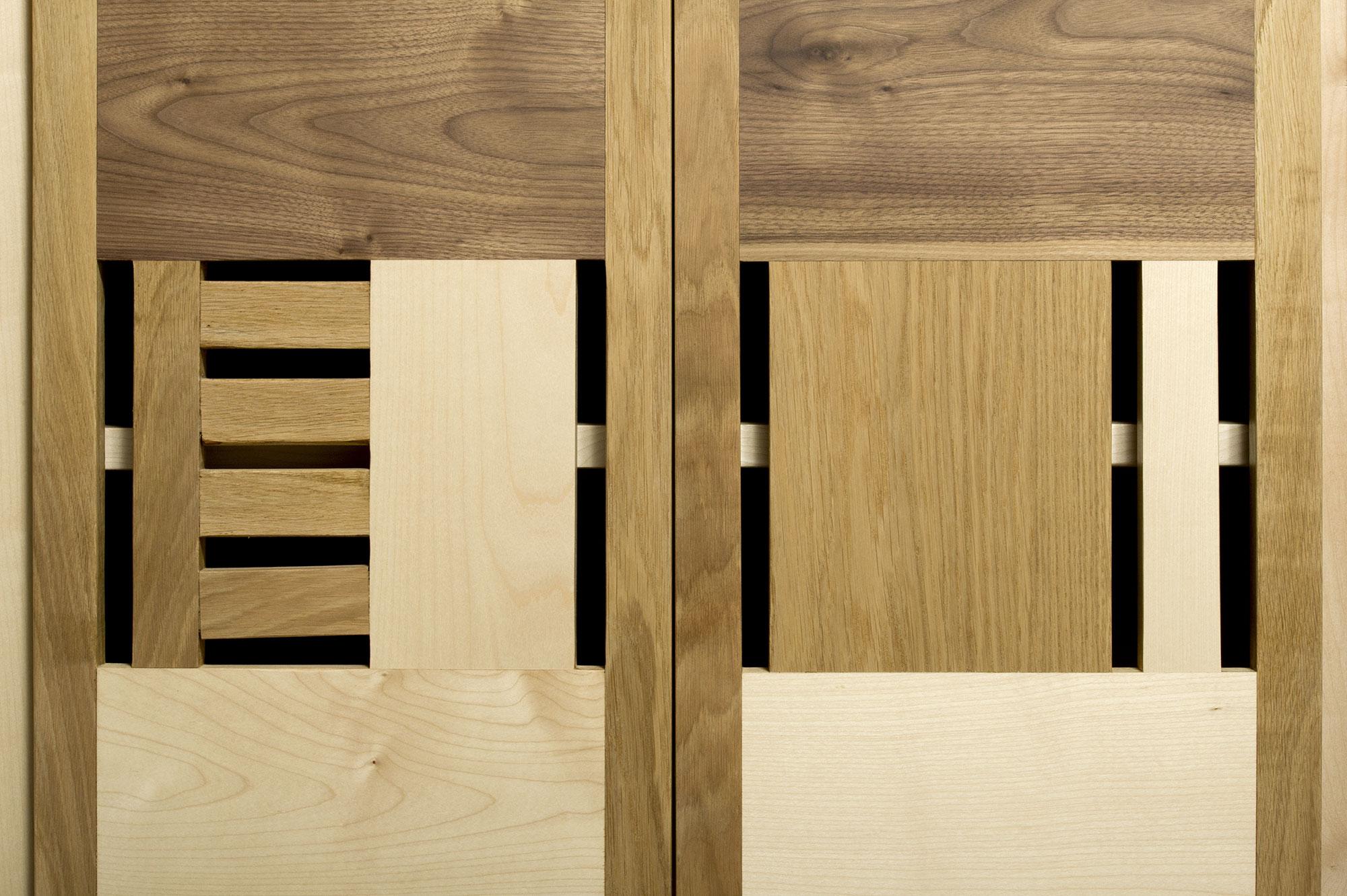 credenza in legno massello varie essenze fatto a mano