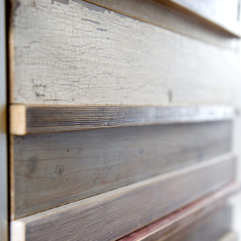 Cassettiera per cucina su misura in legno di recupero