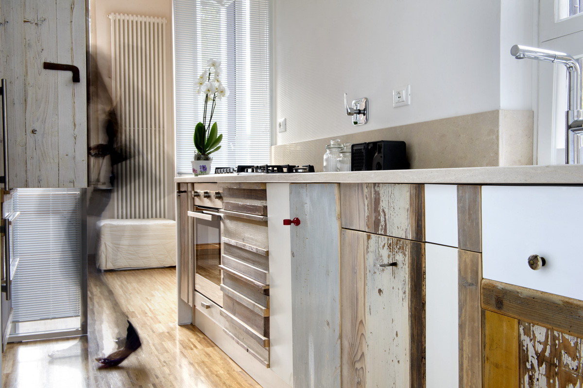 Cucina in legno vintage design originale Laquercia21