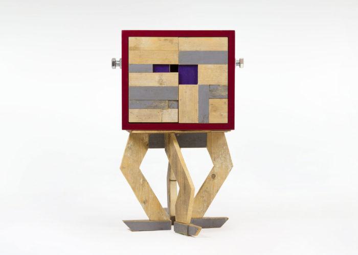 mobile contenitore legno di recupero legno da costruzione