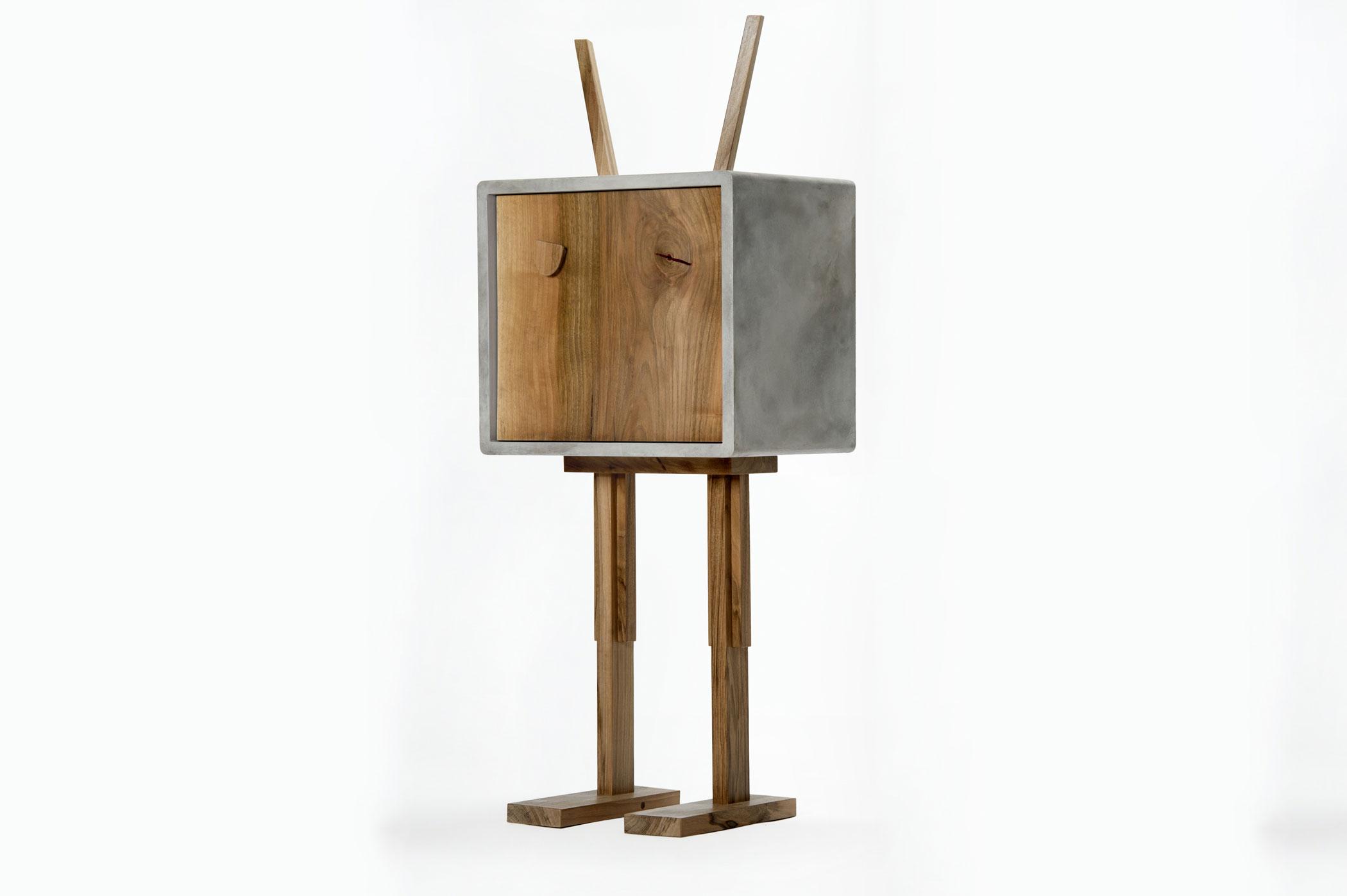 mobiletto resina e legno massello legno vintage