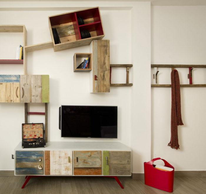 Pareti attrezzate su misura per soggiorno e zona living