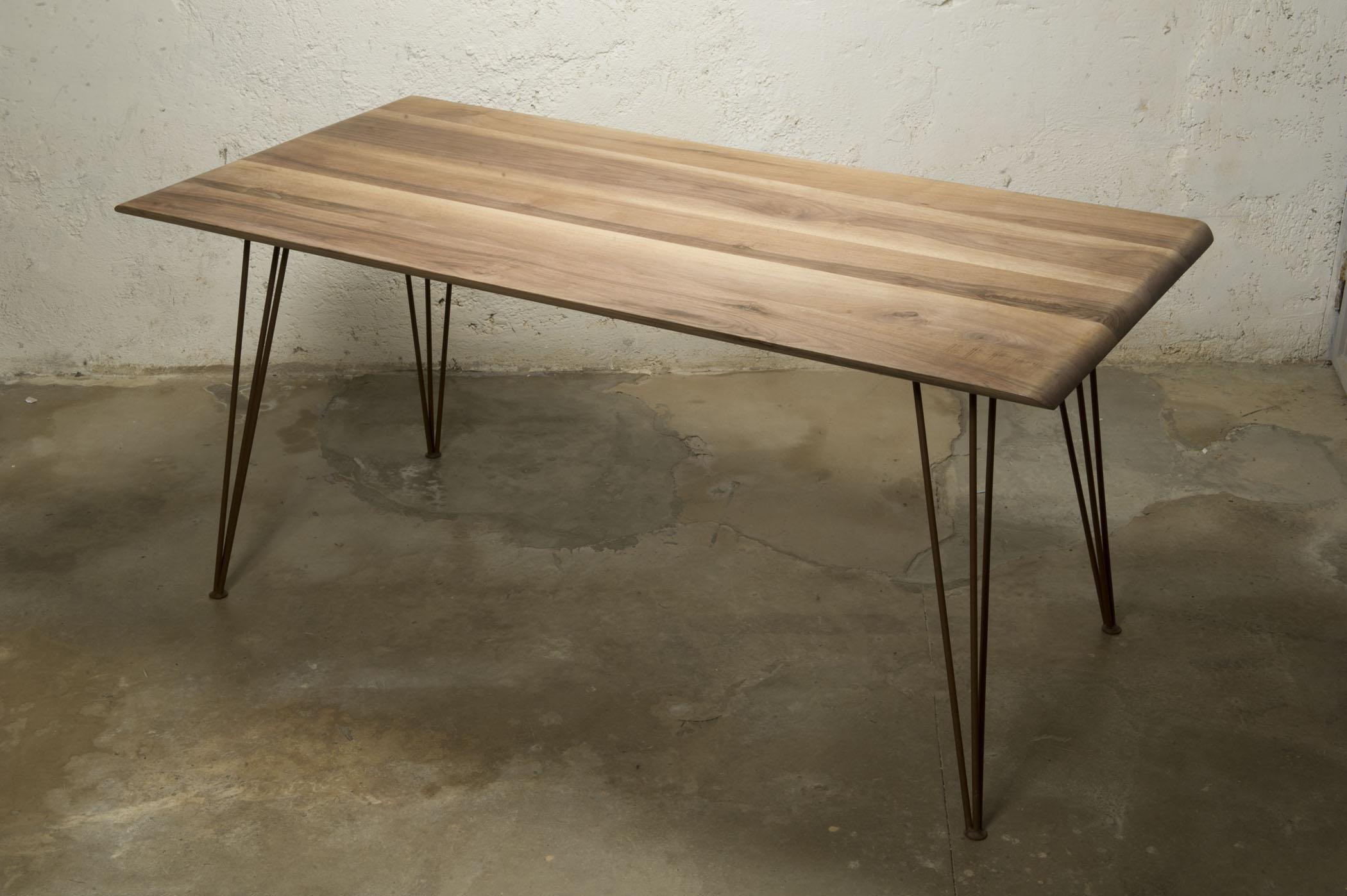 Tavolo In Ferro Brunito E Legno : Tavolino ferro e legno. perfect industrial rustico in legno e ferro