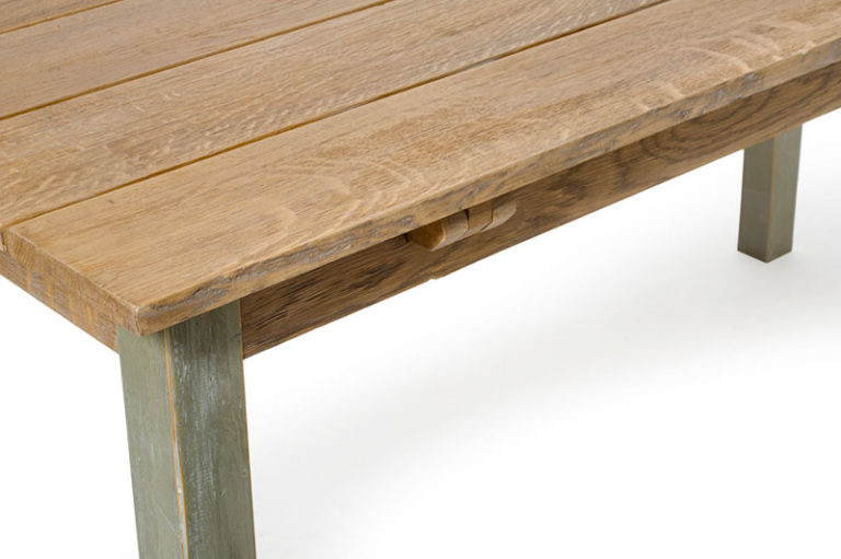 tavolo allungabile con legno di recupero