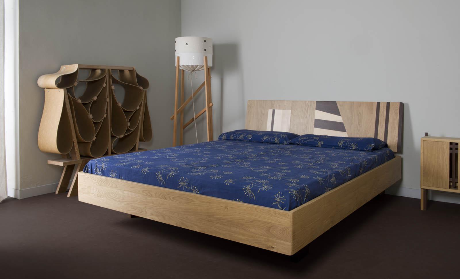 letto contemporaneo testate letto in legno