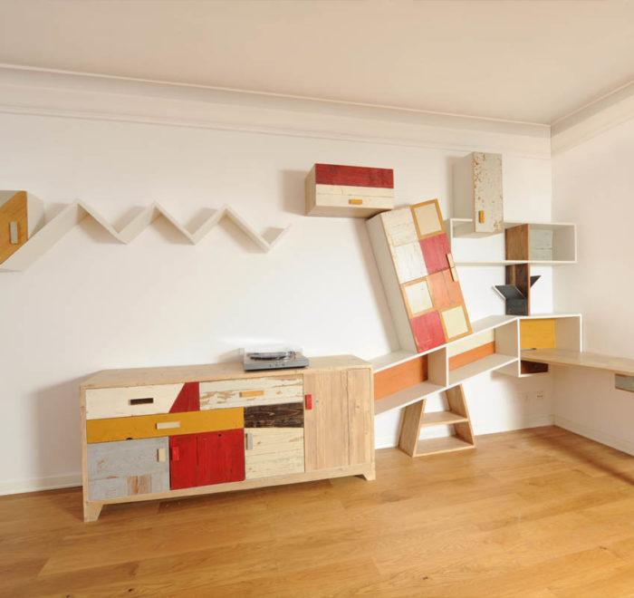 pareti attrezzate moderne