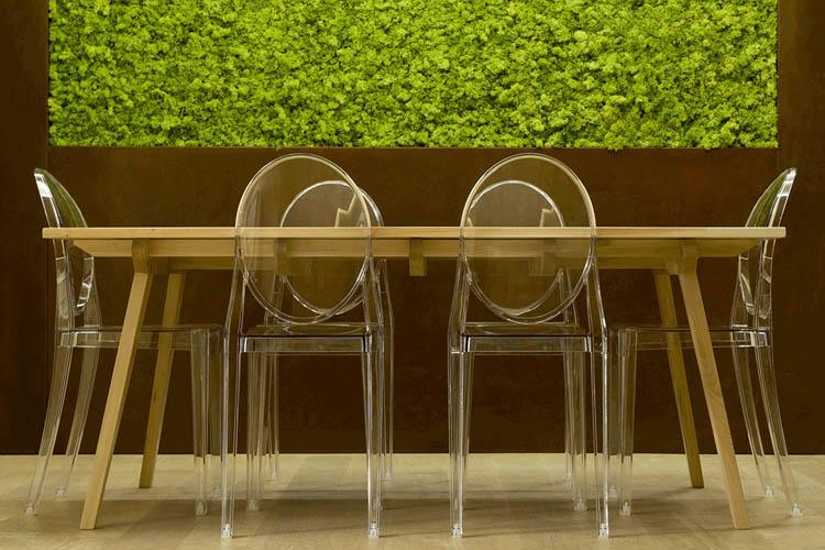 tavolo da pranzo e sedie ghost Stark