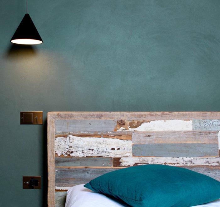 camera da letto design contemporaneo legno di recupero