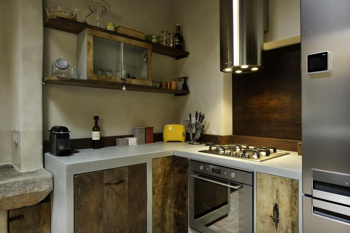 cucina legno di castagno artigianale