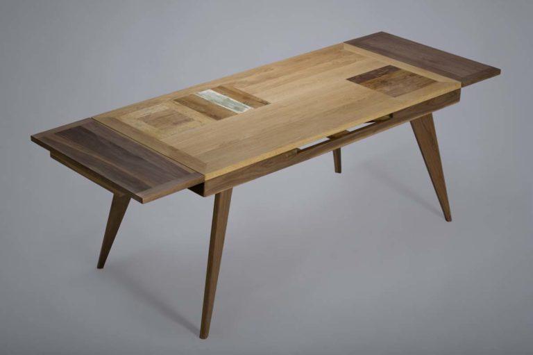tavolo allungabile per sala da pranzo in legno massello