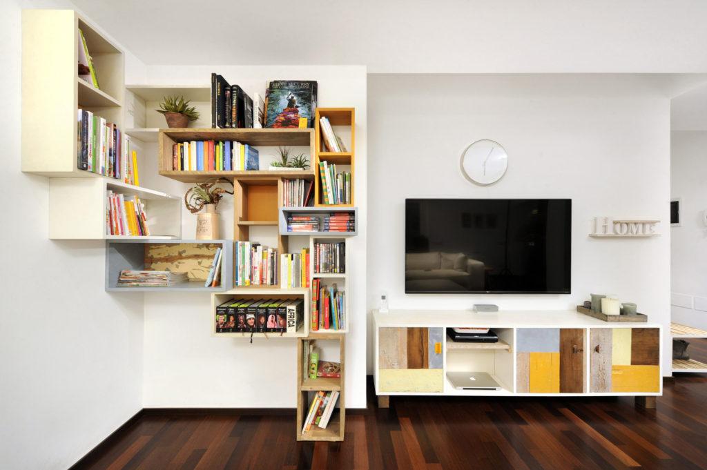 Progettazione di interni con mobili artigianali