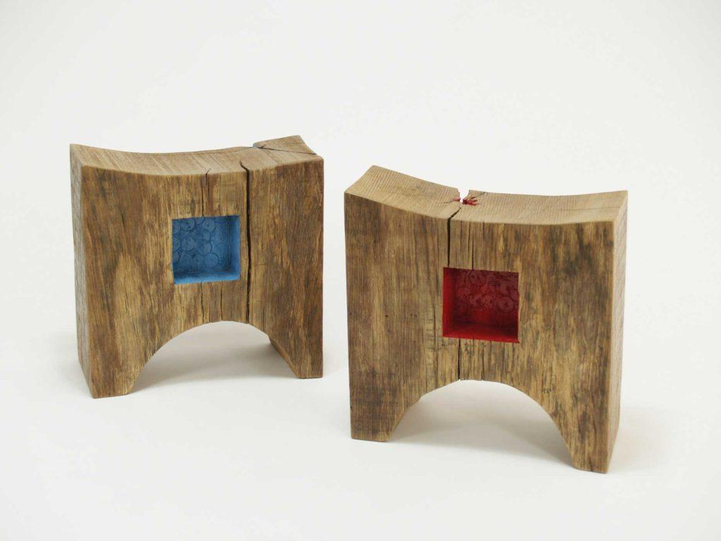 Sgabelli da bar o da cucina in legno e ferro laquercia