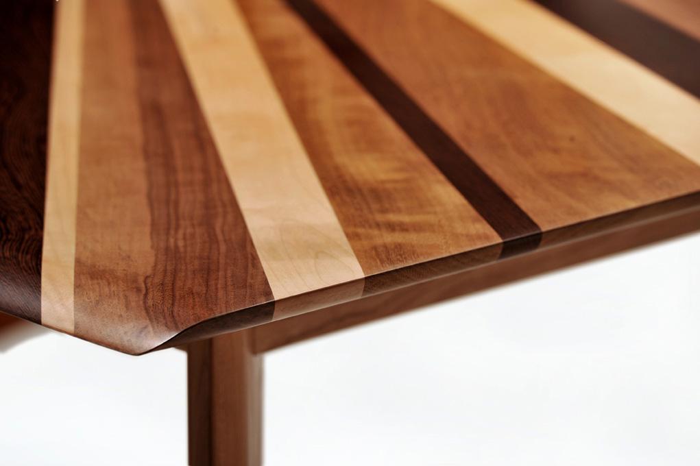 piano del tavolo in legno massello