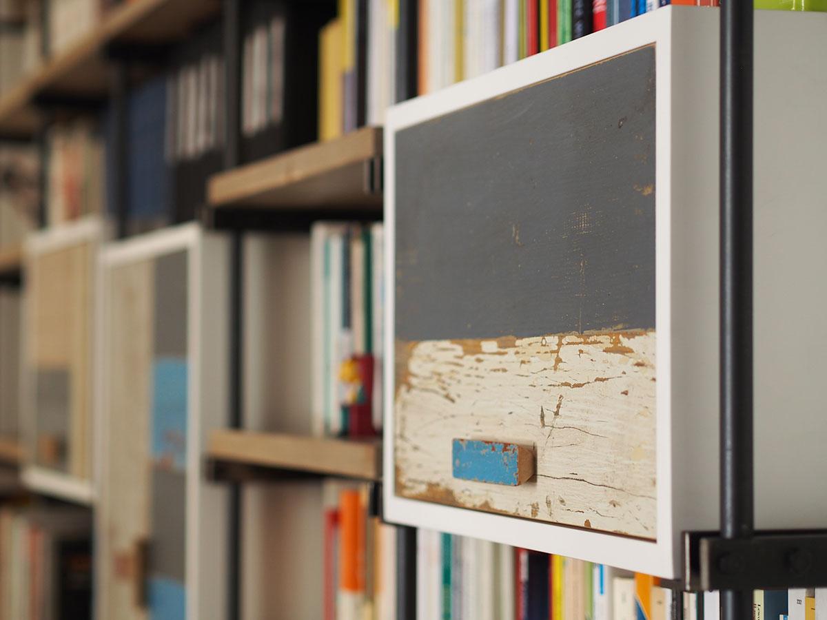 libreria legno e ferro