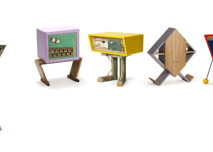 Mobili artigianale in legno e oggetti vintage. Progetto originale su misura