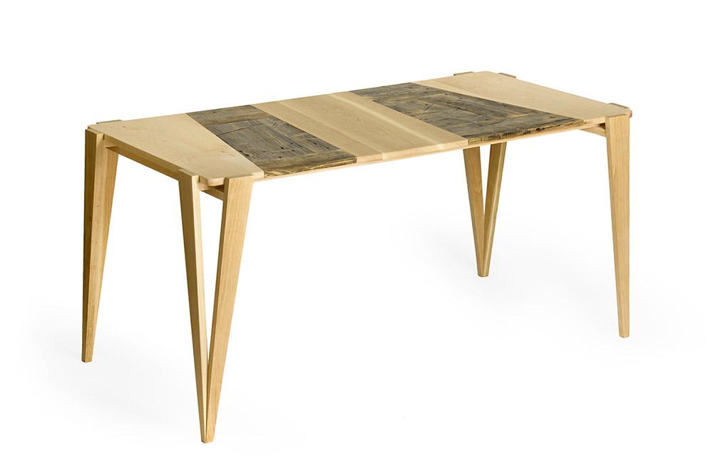 tavolo zona giorno legno di recupero