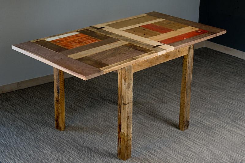 tavolo allungabile in legno di recupero
