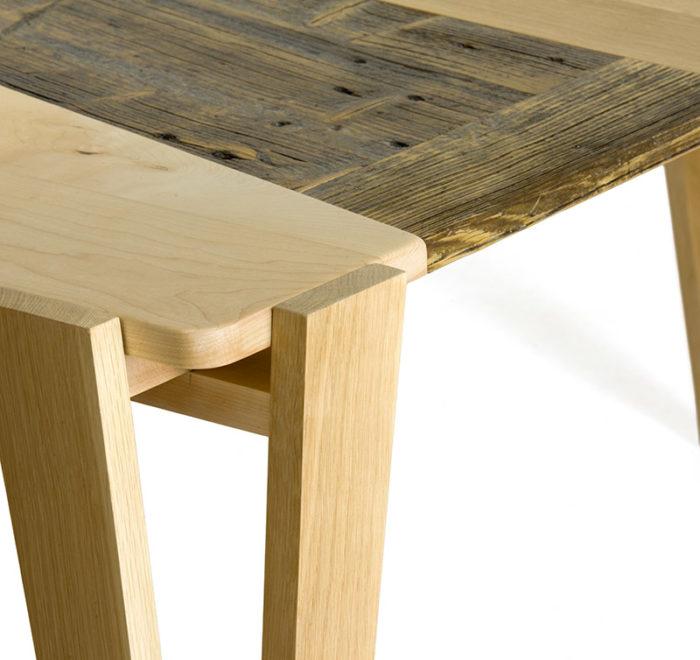 tavolo da pranzo contemporaneo in legno di recupero e legno massello falegnameria laquercia21