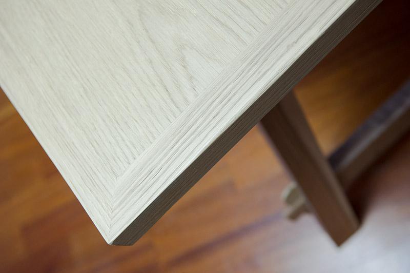 piano tavolo da pranzo in legno massello