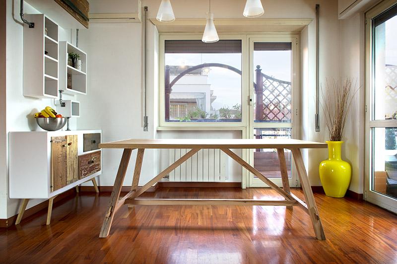 tavolo fratino legno massello Renny
