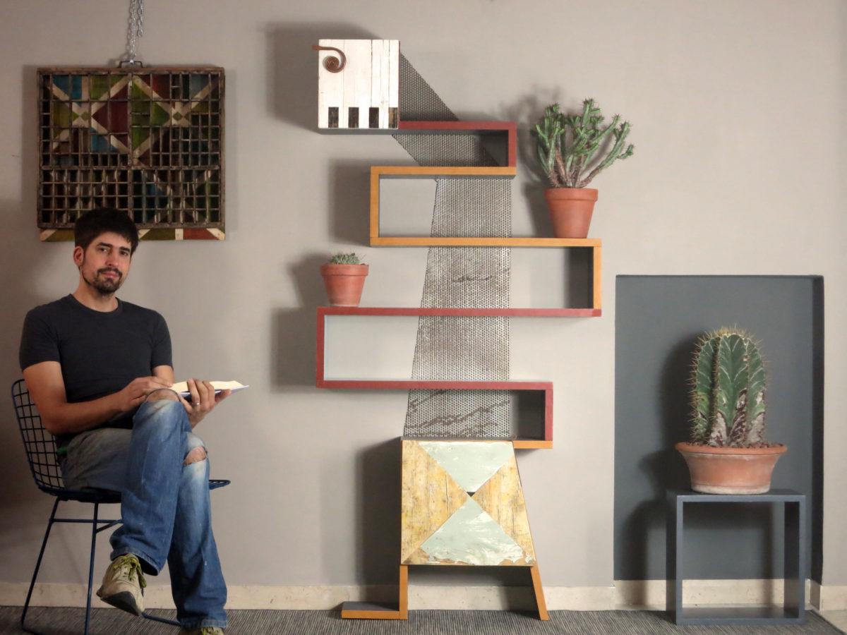Libreria fatta a mano su misura per le case contemporanee