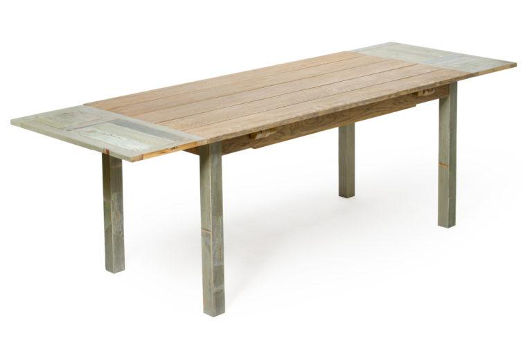Laquercia21 tavolo Clavicembalo allungato rovere e abete e legno di recupero