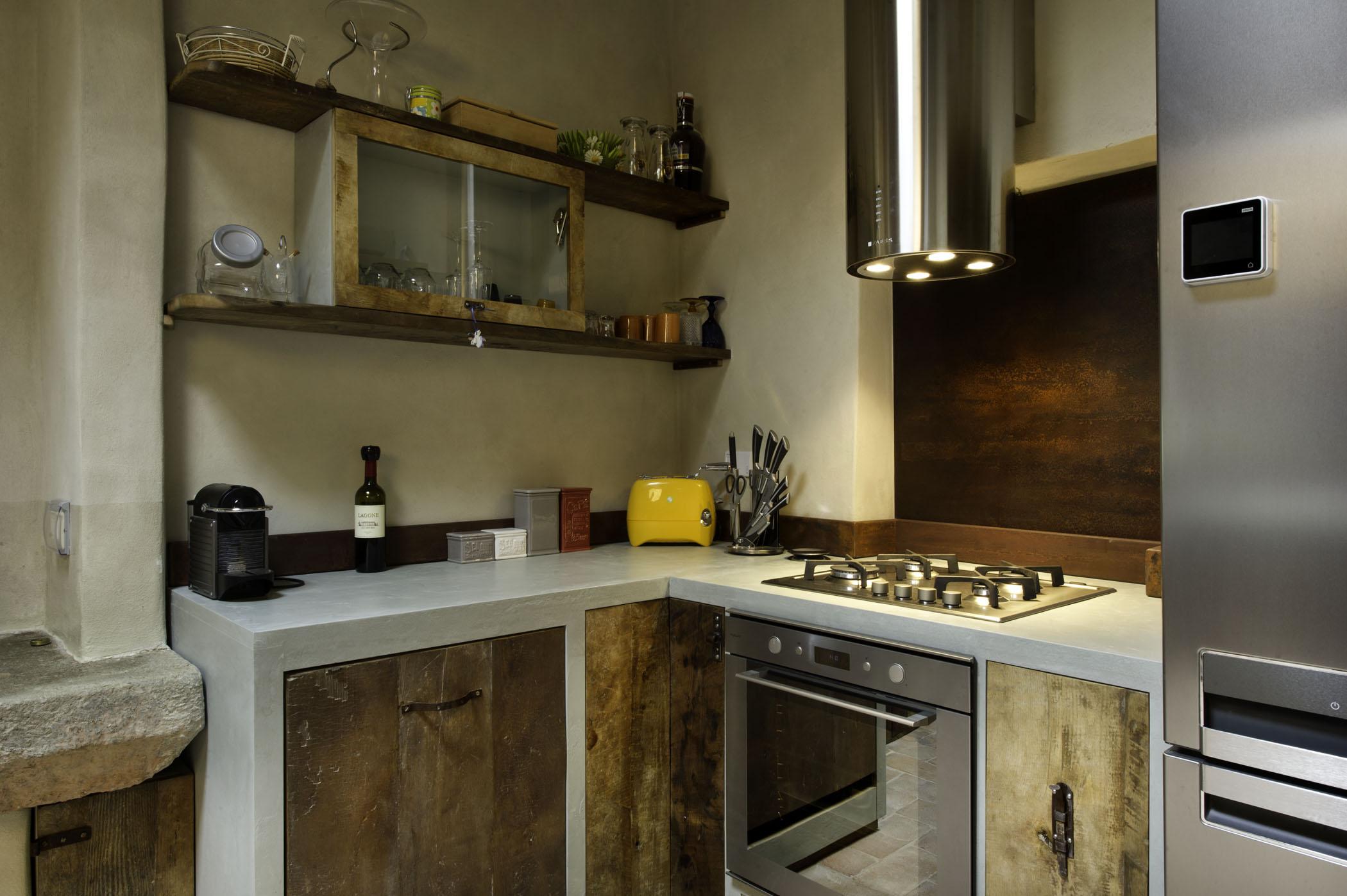 Ante in legno per le cucine in muratura laquercia21 for Ante cucina in muratura