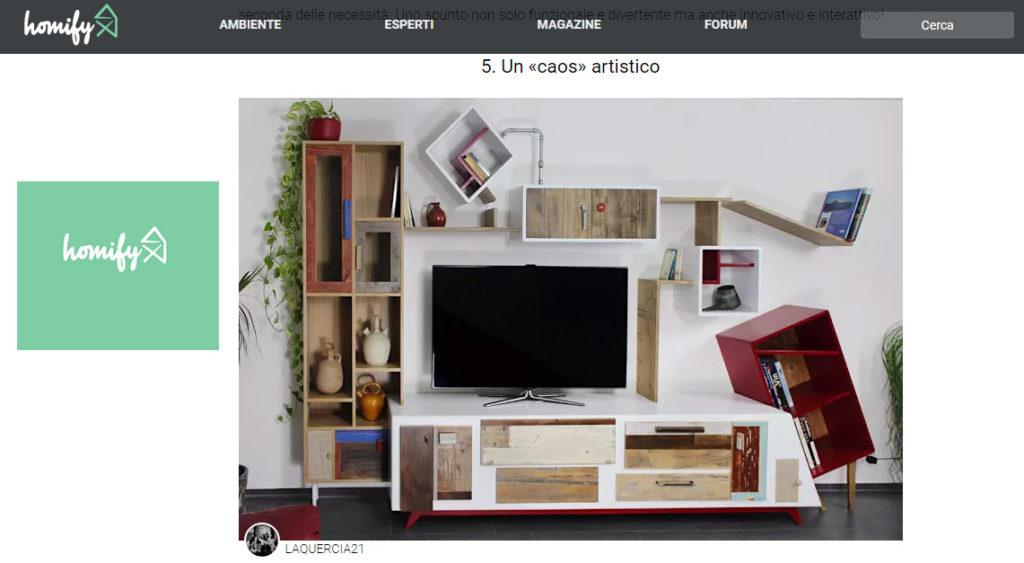 Homify Italia consiglia stato metastabile de Laquercia21 la parete attrezzata in legno vintage e laccatura