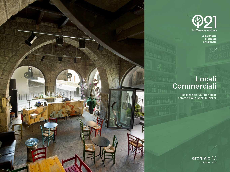 Locali commerciali e spazi pubblici arredati con design artigianale