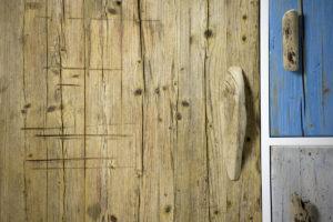 Credenza fatta a mano con legni riportati dal mare. Credenza da spiaggia Laquercia21