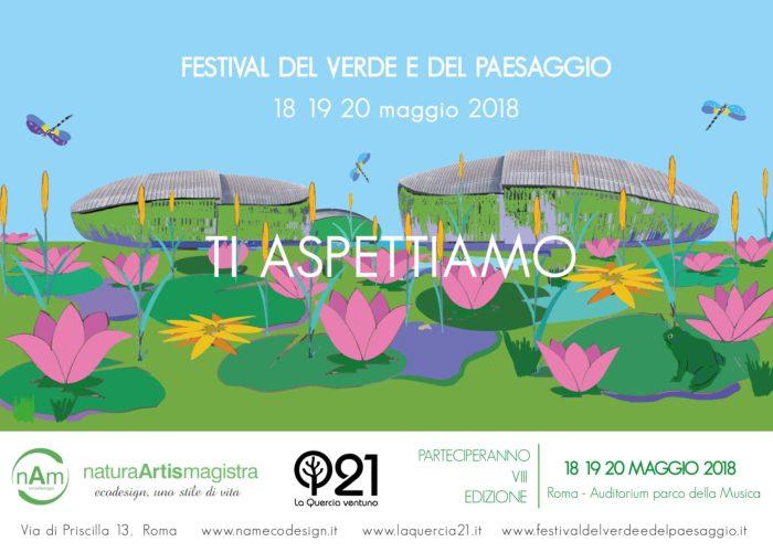nam ecodesign e Laquercia21 Festival del verde e del paesaggio 2018 Roma ecodesign
