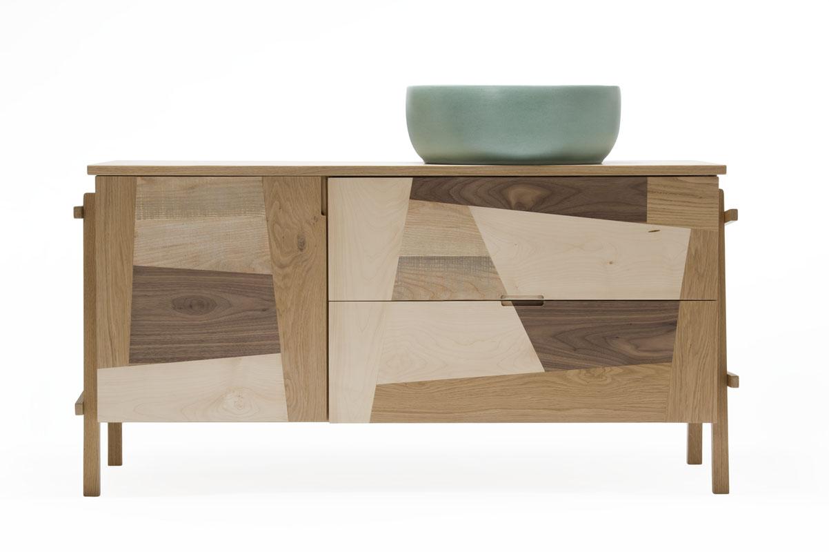 mobile bagno in legno design italiano