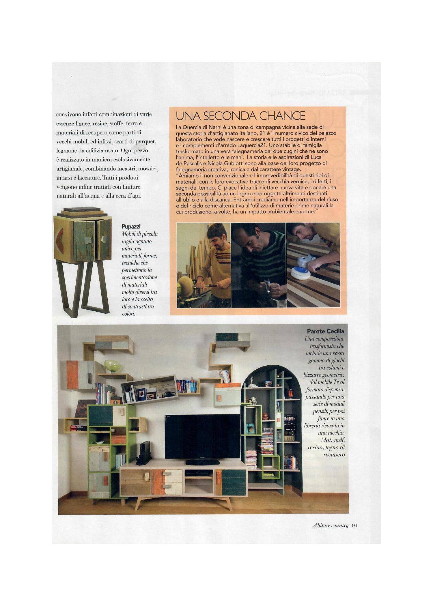 Abitare Country rivista design Laquercia21