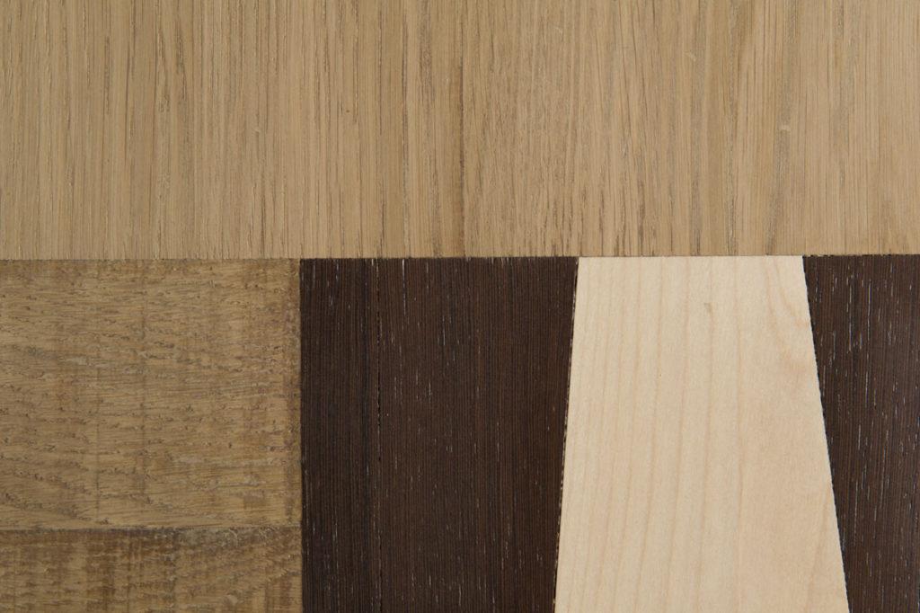 Combinazione di tipi di legno per madia moderna soggiorno