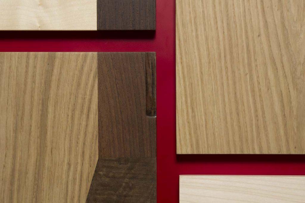 Cassetti in legno massello per cassettiera design