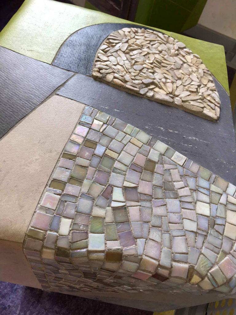 Mosaico, mobili per il salotto su misura linoleum contemporaneo