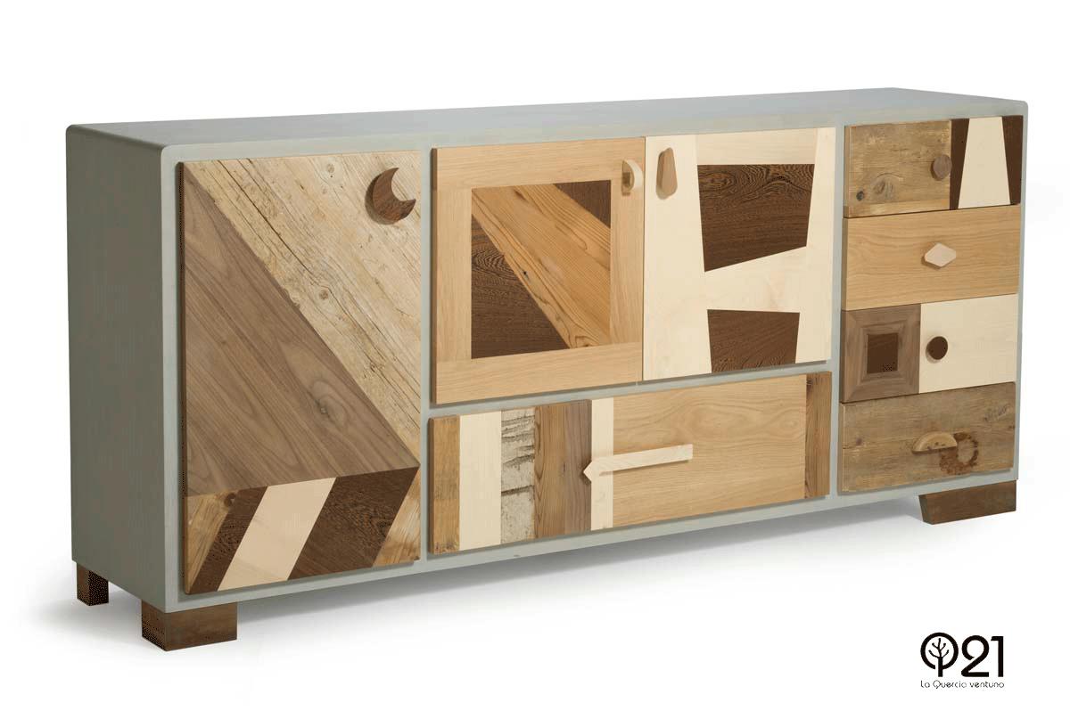 Credenza Con Legno Di Recupero : Quando il legno nuovo gioca con quello vintage laquercia21