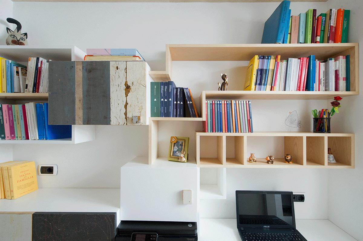 scrivania e studio in legno e legno recuperar solorato