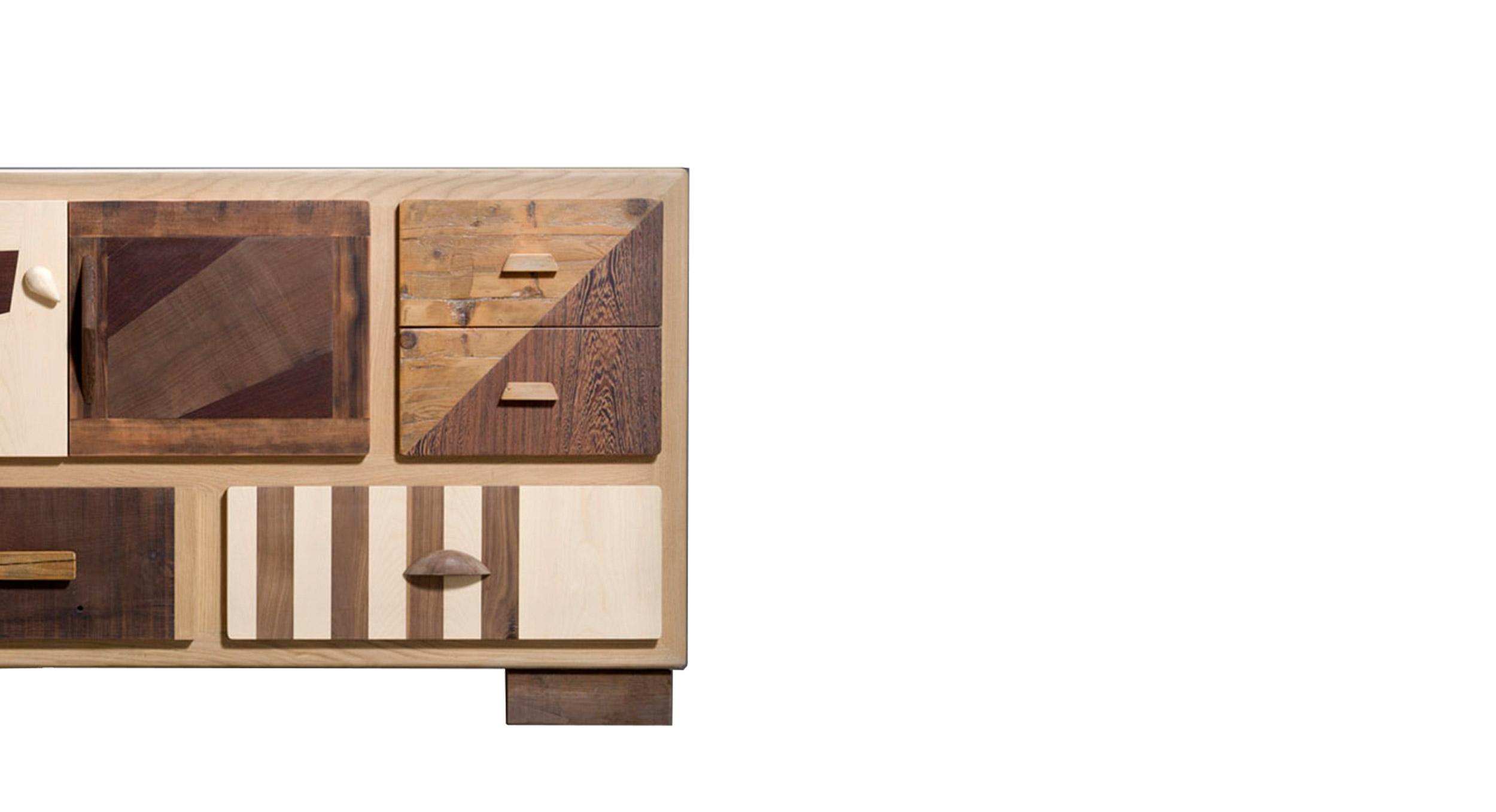 credenza in legno massello cassettiera su misura