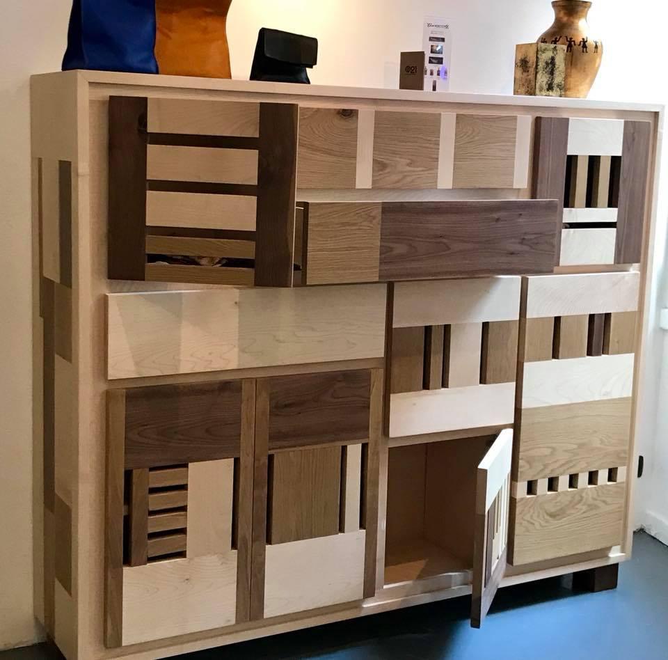 mobile soggiorno in legno su misura
