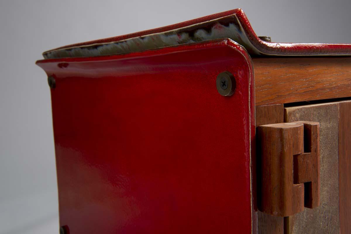 lastre in ceramica rossa per cassettiere e credenze