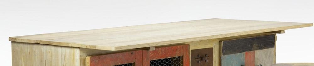 credenza piano per tavolo da lavoro per la pasta fresca in legno massello