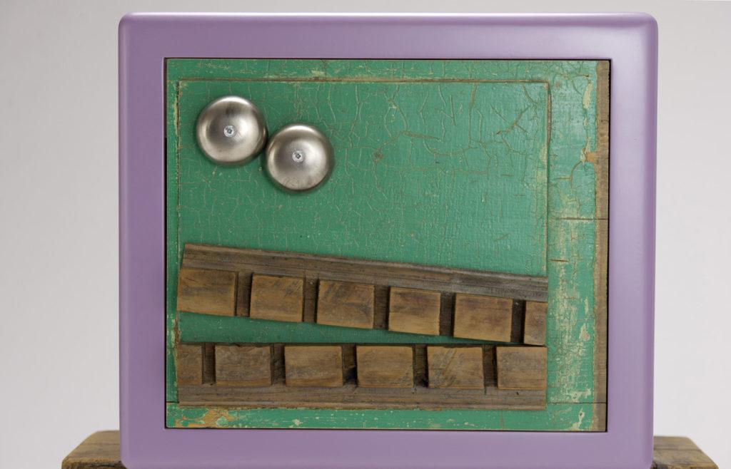 piccoli mobili contenitori legno colorato e ferro