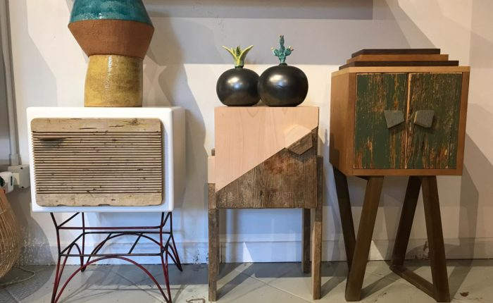 mobiletti comodini legno recupero design vintage