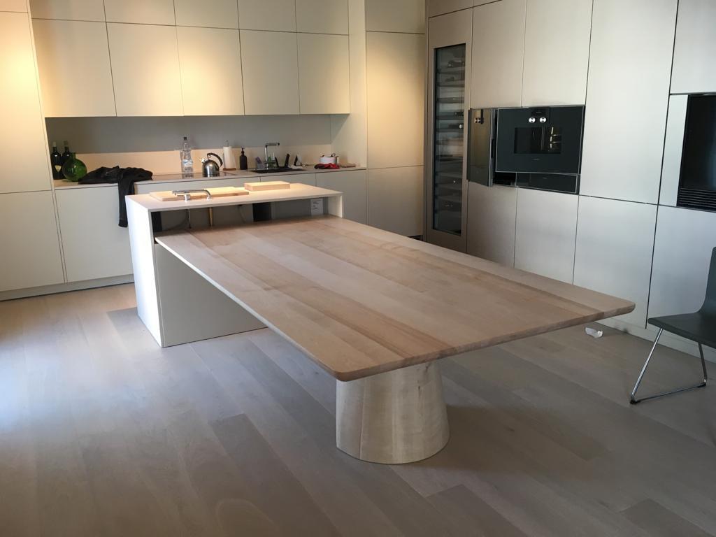 Tavoli Con Tronchi Di Legno.Massello Per Cucina Hi Tech Ultima Generazione